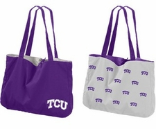 TCU Horned Frogs Reversible Tote Bag