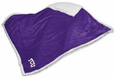 TCU Horned Frogs Sherpa Blanket