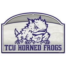 TCU Horned Frogs Wood Sign