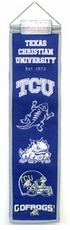 TCU Horned Frogs Wool 8x32 Heritage Banner