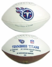 Tennessee Titans Embroidered Autograph Signature Series Football