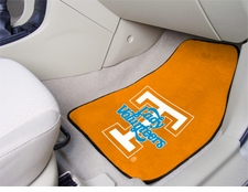 Tennessee Volunteers Lady Vols 2-Piece Carpeted Car Mats Front Set