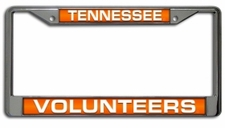 Tennessee Volunteers Laser Cut Chrome License Plate Frame