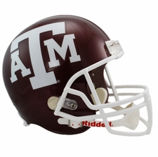 Texas A&M Aggies Red Riddell Deluxe Replica Helmet