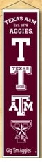 Texas A&M Aggies Wool 8x32 Heritage Banner