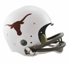 Texas Longhorns 1967-76 Riddell NCAA TK 2-Bar Suspension Throwback Full Size Helmet