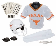 Texas Longhorns Deluxe Youth / Kids Football Helmet Uniform Set