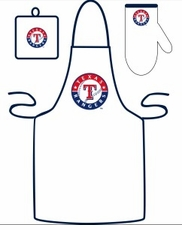 Texas Rangers Cooking / Grilling Apron Set