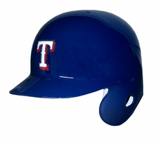 Texas Rangers Left Flap Rawlings Authentic Batting Helmet