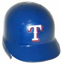 Texas Rangers Right Flap Rawlings Authentic Batting Helmet