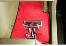 Texas Tech Red Raiders 2-Piece Carpeted Car Mats Front Set