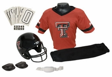 Texas Tech Red Raiders Deluxe Youth / Kids Football Helmet Uniform Set