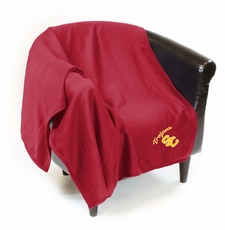 USC Trojans Sweatshirt Throw Blanket