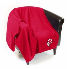 Utah Utes Sweatshirt Throw Blanket