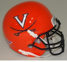 Virginia Cavaliers 2011 Orange Schutt Authentic Mini Helmet