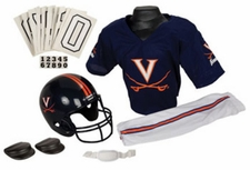 Virginia Cavaliers Deluxe Youth / Kids Football Helmet Uniform Set