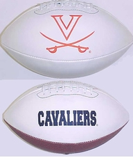 Virginia Cavaliers Full Size Signature Embroidered Football