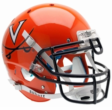 Virginia Cavaliers Orange, Navy Mask Schutt XP Authentic Helmet