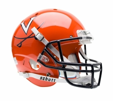 Virginia Cavaliers Orange Navy Mask Schutt XP Full Size Replica Helmet