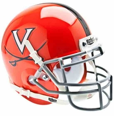 Virginia Cavaliers Pearl Orange Schutt Authentic Mini Helmet
