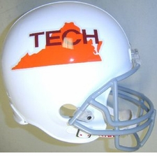 Virginia Tech Hokies 1971-73 Throwback Riddell Deluxe Replica Full Size Helmet