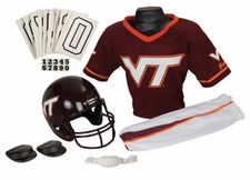 Virginia Tech Hokies Deluxe Youth / Kids Football Helmet Uniform Set