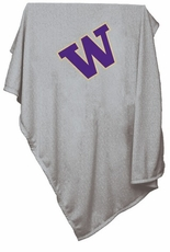 Washington Huskies Gray Sweatshirt Blanket