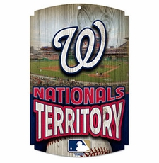 Washington Nationals Wood Sign