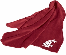 Washington State Cougars Fleece Throw