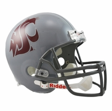 Washington State Cougars Grey Riddell Deluxe Replica Helmet