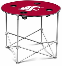 Washington Cougars Round Tailgate Table
