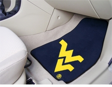 West Virginia Mountaineers 2-Piece Carpeted Car Mats Front Set
