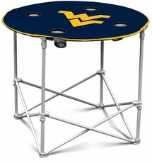 West Virginia Mountaineers Round Tailgate Table