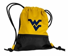 West Virginia Mountaineers Yellow String Pack / Backpack