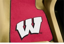 Wisconsin Badgers 2-Piece Carpeted Car Mats Front Set