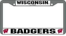 Wisconsin Badgers Chrome License Plate Frame