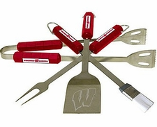 Wisconsin Badgers Grill BBQ Utensil Set
