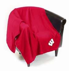 Wisconsin Badgers Sweatshirt Throw Blanket