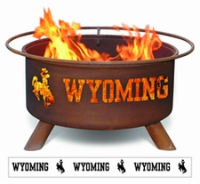 Wyoming Cowboys Outdoor Fire Pit