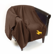 Wyoming Cowboys Sweatshirt Throw Blanket
