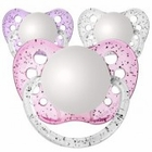 3 Orthodontic Glitter Girls Personalized Pacifiers