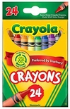 24 Count Crayola Crayons Great For Preschool Preferred By Teachers