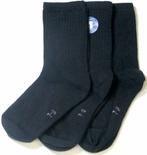 Florence Boys Cotton Casual Crew Socks 3 Pack Black