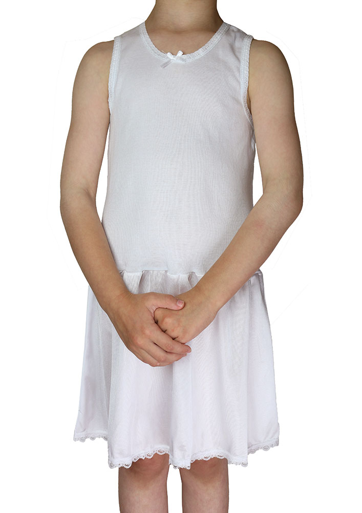 KneesNToes.net - Girls Cotton Nylon Full Slip- Girls Full slips ...