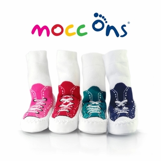Mocc-Ons Moccasin Style Slipper Socks