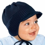 Infant & Toddler Boys Winter Knitted Cap with Side Strings
