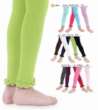 Jefferies Toddler Girls Cotton Ruffle Footless Tights Leggings