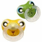 NUK Silicone Animal Faces 2 Pack Pacifier, Size 2 Colors May Vary