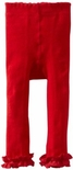 Jefferies Cotton Ruffle Footless Tights Leggings Red