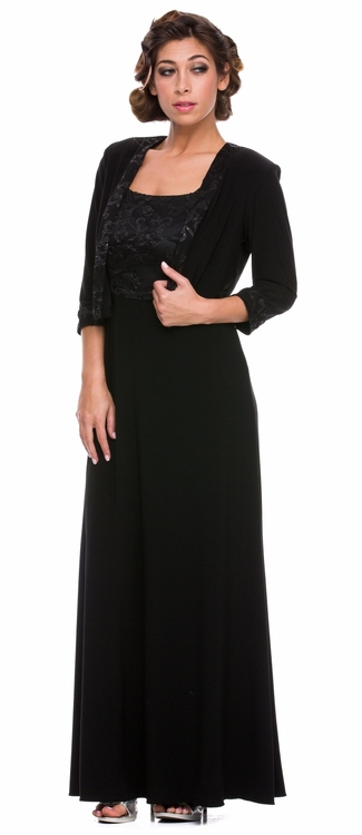 Black evening jackets for dresses